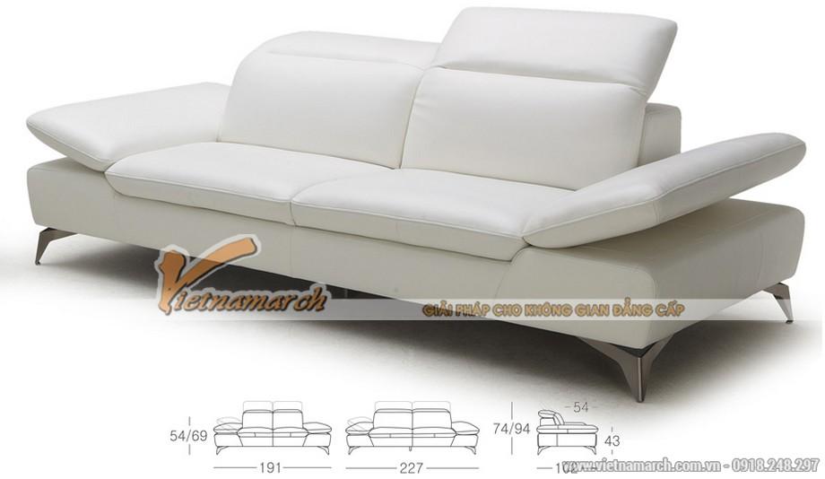 Mẫu ghế sofa da kiểu dáng linh động 2016 - 03