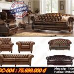 Bộ ghế sofa cổ điển đẹp sang trọng đẳng cấp cho gia chủ thành đạt – Mã: SDC-004