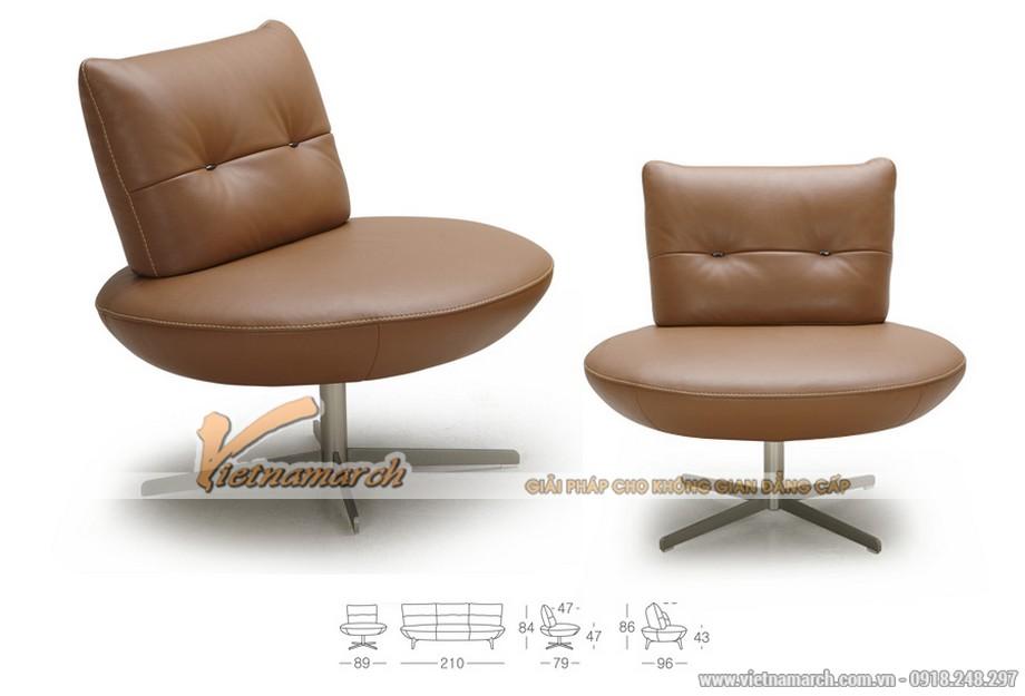 Mẫu ghế sofa da văng phá cách cực đẹp 2017 - Mã: SDV-053