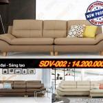 Mẫu ghế sofa da văng nhập khẩu Ấn Độ cực tiện lợi cho phòng khách – Mã: SDV-002