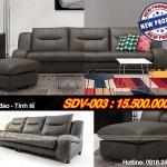 Mẫu ghế sofa văng da cao cấp thiết kế sang trọng – Mã: SDV-003