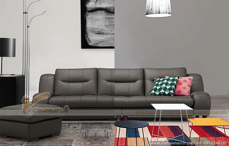 Mẫu ghế sofa văng da cao cấp thiết kế sang trọng-11