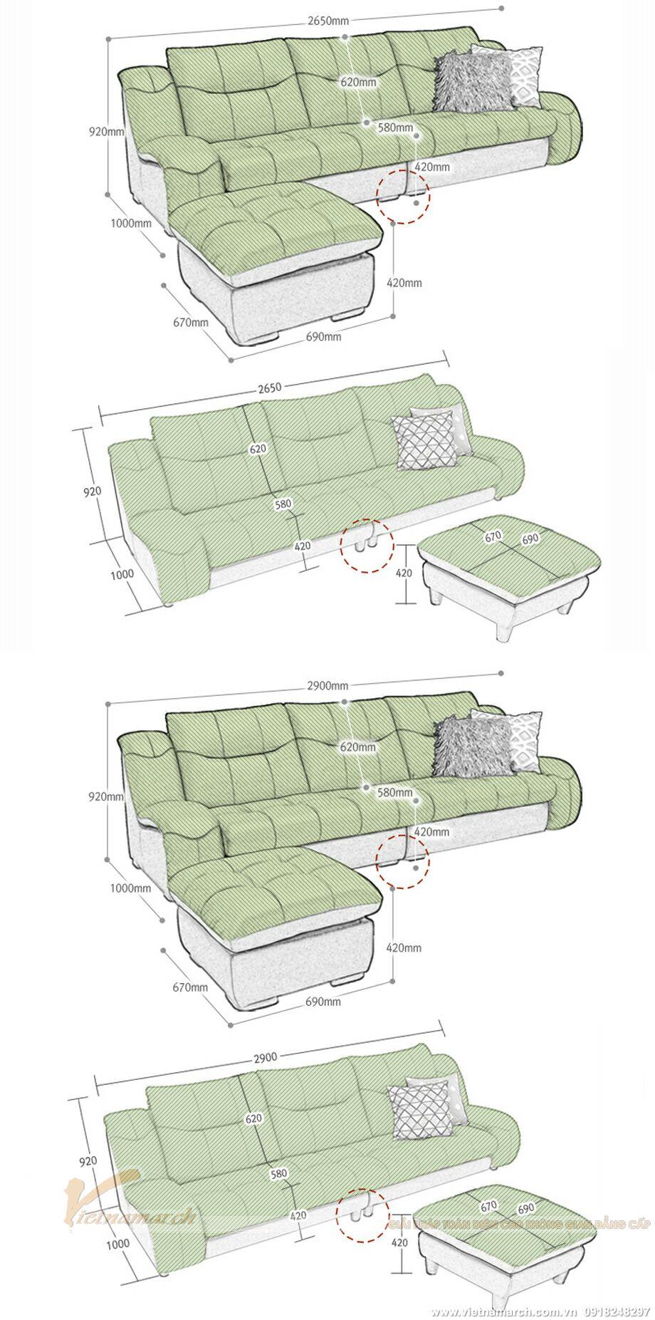 Mẫu ghế sofa văng da cao cấp thiết kế sang trọng-13