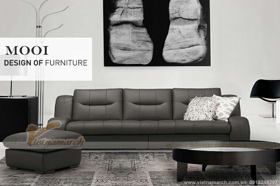 Mẫu ghế sofa văng da cao cấp thiết kế sang trọng