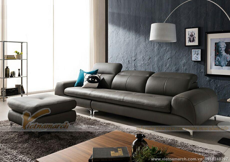 Mẫu ghế sofa văng chất liệu da với thiết kế cách tân độc đáo -SDV005