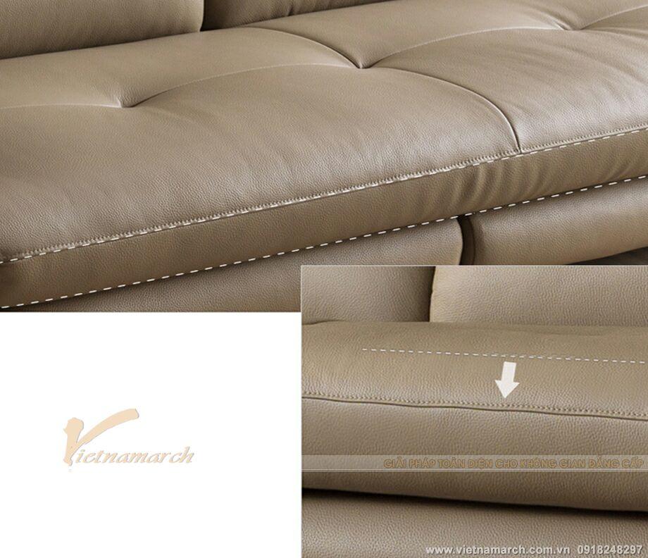 Chất liệu da cao cấp trong bộ sofa SDV-008