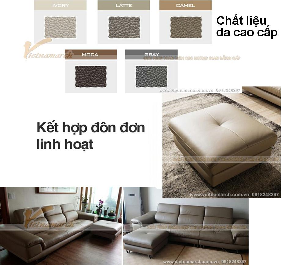 Ghế sofa chất lượng da cao cấp nhập khẩu