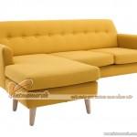 Mẫu ghế sofa vải góc màu vàng tươi trẻ – Mã: SVG-010