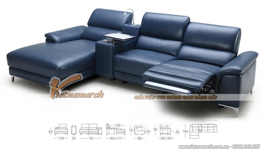 Mẫu ghế sofa góc da công nghiệp kiểu dáng Anh quốc - 01