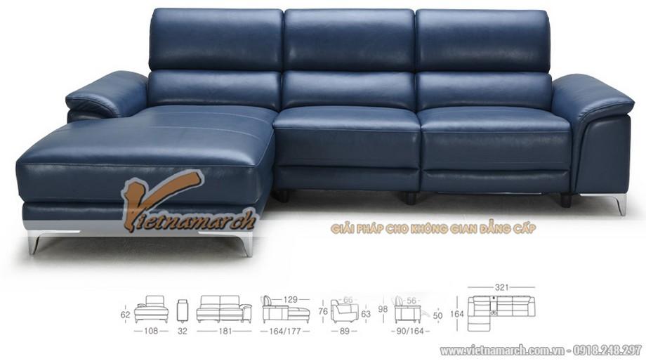 Mẫu ghế sofa góc da công nghiệp kiểu dáng Anh quốc - 02