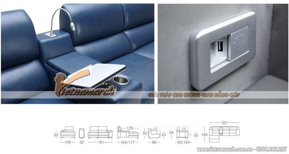 Mẫu ghế sofa góc da công nghiệp kiểu dáng Anh quốc - 03