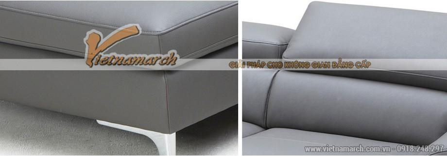 Mẫu ghế sofa góc da nhập khẩu công nghệ Đài Loan - 03