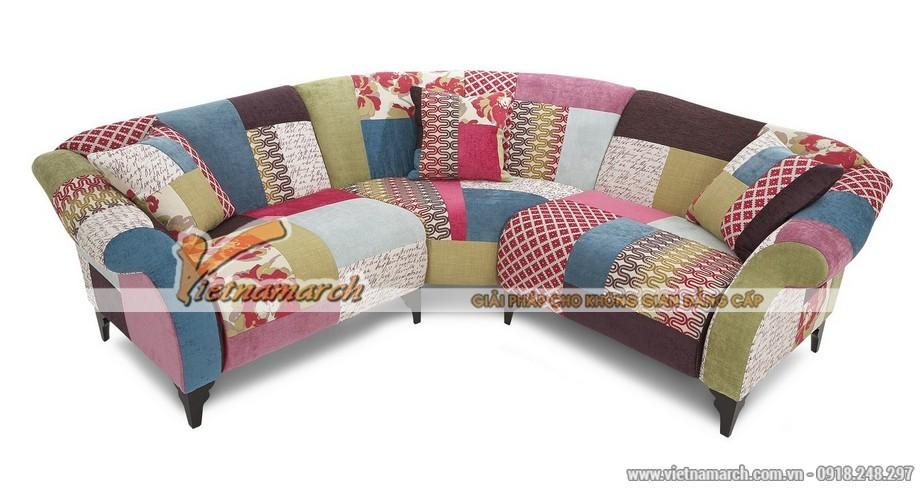 Mẫu ghế sofa góc Sợi Ramie (vải gai)
