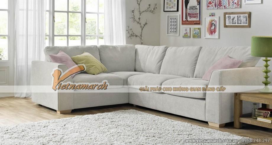 Mẫu ghế sofa 5 chỗ ngồi vải nỉ mềm mại trẻ trung năng động - Mã: SVG-027