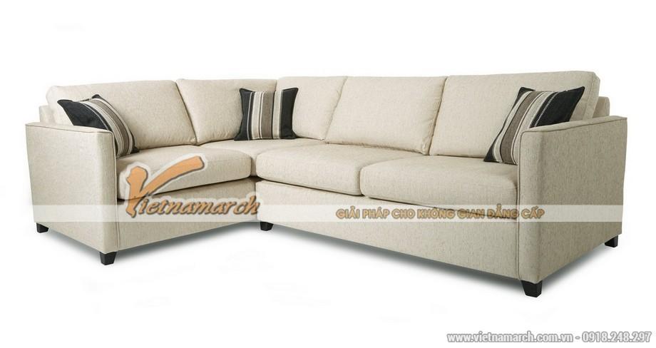 Mẫu ghế sofa văng chất liệu vải nỉ đa năng trong sử dụng