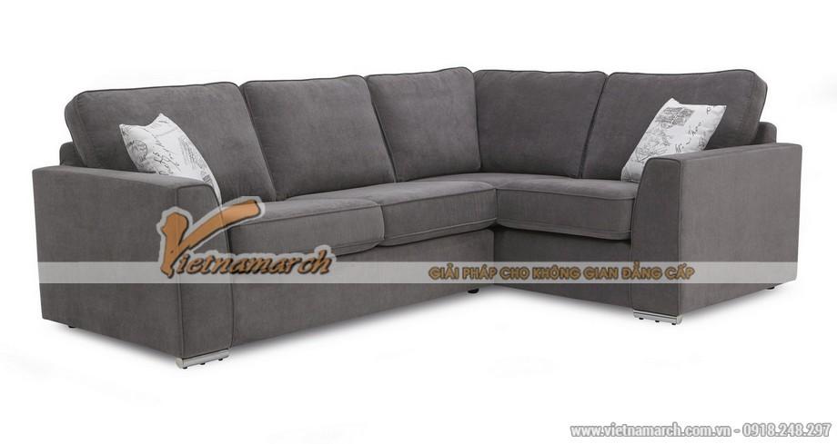 Mẫu ghế sofa góc vải nỉ êm ái cho người trung tuổi