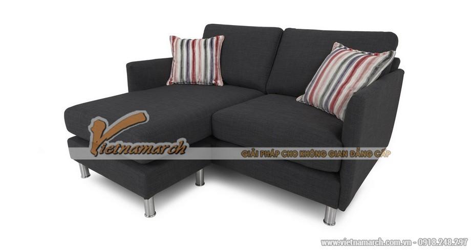 Mẫu ghế sofa vải nỉ đen quý phái đa chức năng