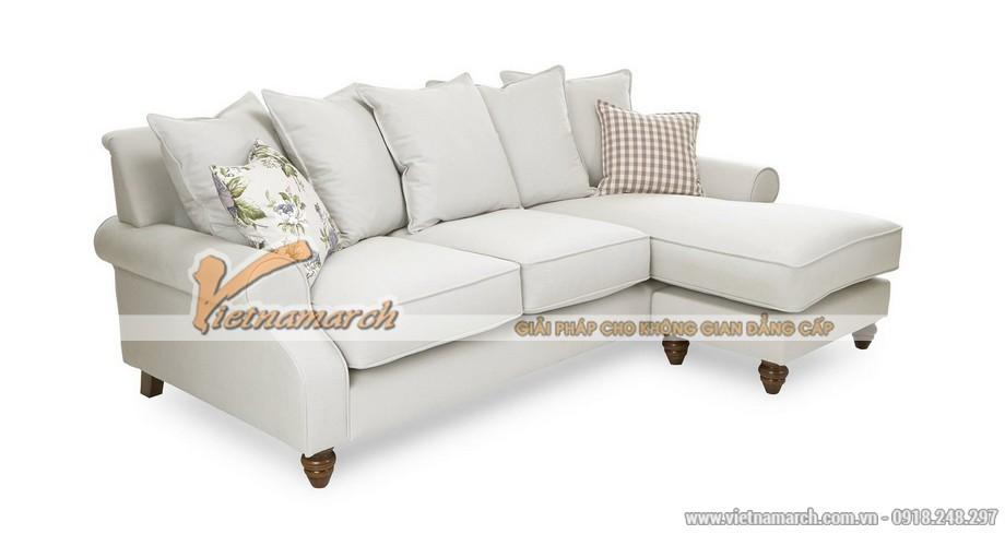 Mẫu ghế sofa 2 khối ghế cho nhà biệt thự