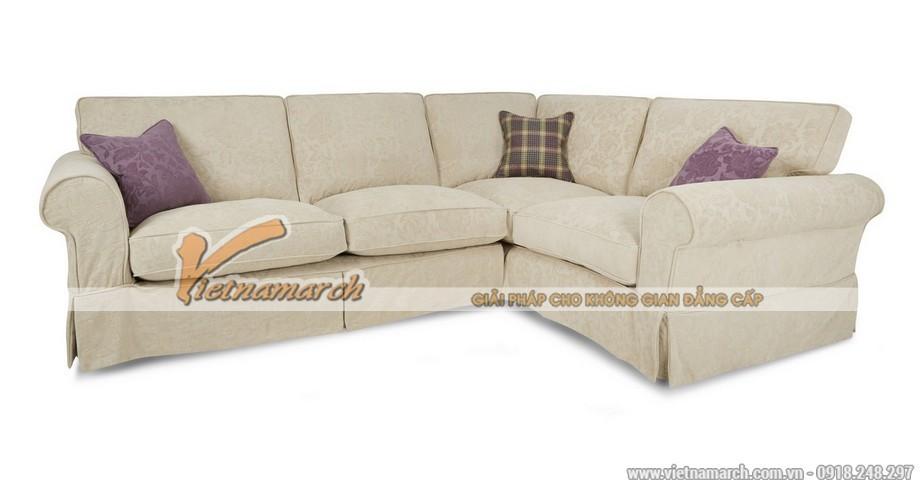 Mẫu ghế sofa vải nỉ Shik với thiết kế kiểu dáng Tây Âu