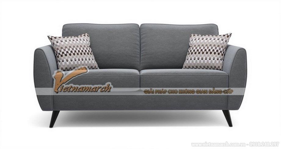 Mẫu ghế sofa văng vải nỉ 2 chỗ ngồi