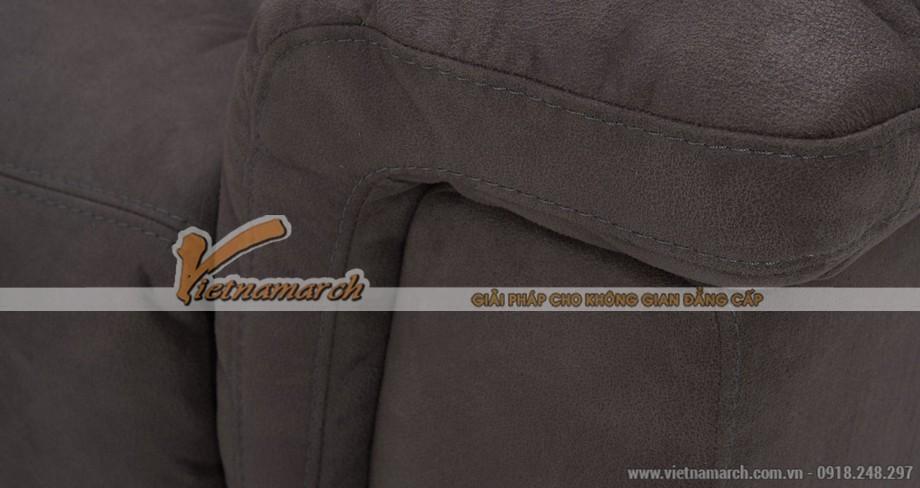Mẫu ghế sofa vải Nhung giả da như thật cực bền