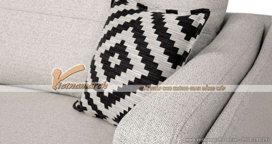 Mẫu ghế sofa vải nỉ tân cổ điển cho phái nữ đẳng cấp