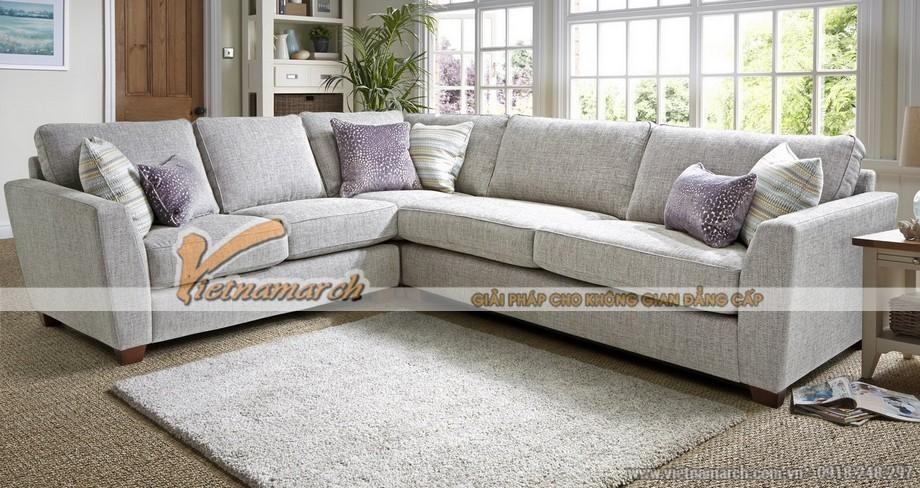 Mẫu sofa vải nỉ cho nhà diện tích lớn giá rẻ