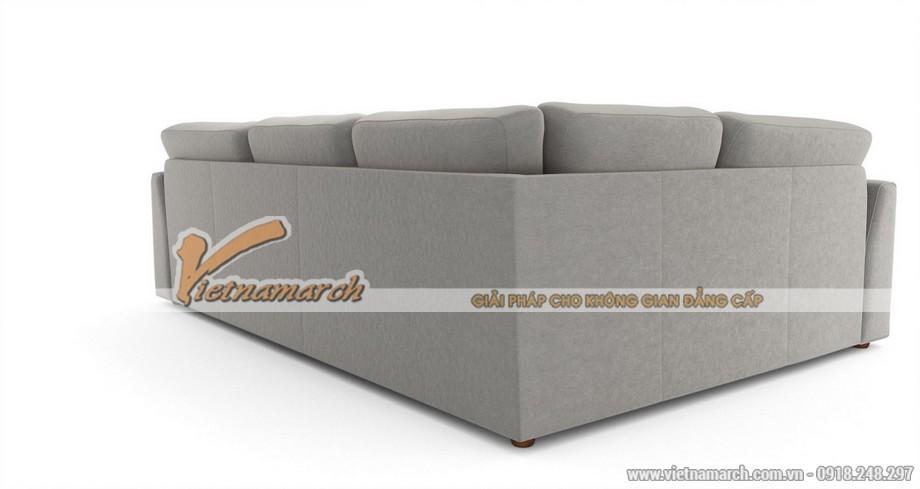 Mẫu ghế sofa khung gỗ xoan đào vải nỉ cao cấp cực êm ái - Mã: SVG-023