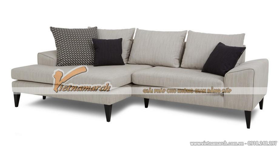 Mẫu ghế sofa sợi gai dầu 2 khối cho phòng khách