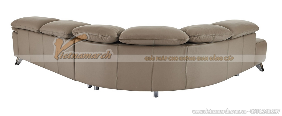 Mau sofa da chu L cua Y sang trong trang nha