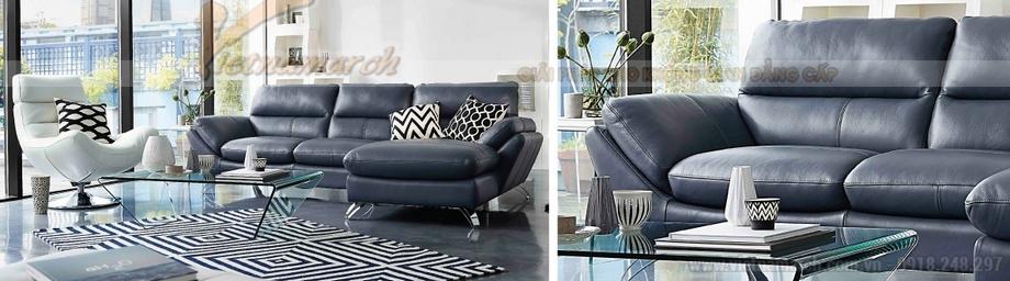 Mẫu sofa góc chất liệu da nhập khẩu Malaysia cho không gian nhà bạn thêm sang trọng