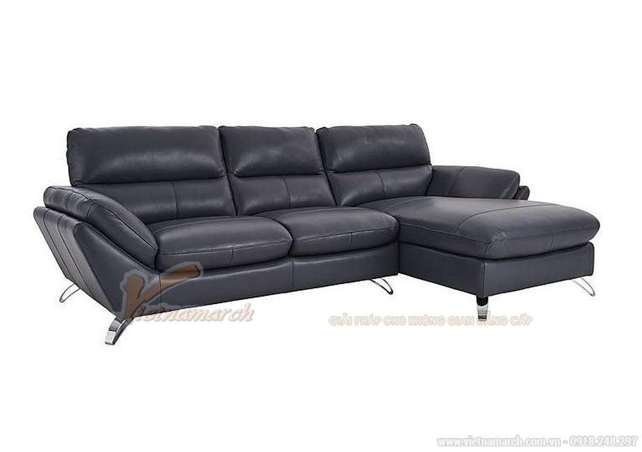 Mẫu sofa góc chất liệu da nhập khẩu Malaysia thiết kế hiện đại