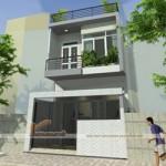 Thiết kế nhà mặt phố 2 tầng đẹp hiện đại – chi phí xây dựng chỉ 500 triệu