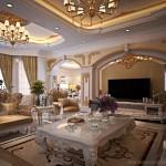 Nội thất tân cổ điển sang trọng nhà Anh Hoàng – biệt thự Riverside Hoa Phượng