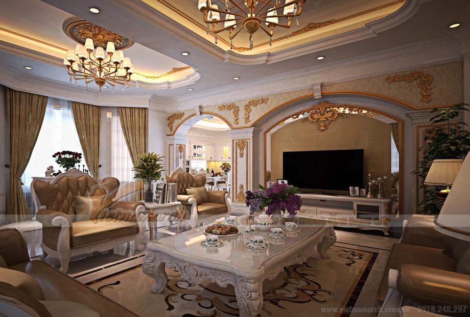 Phong cách tân cổ điển là khuynh hướng yêu chuộng của biệt thự Vinhomes Riversides
