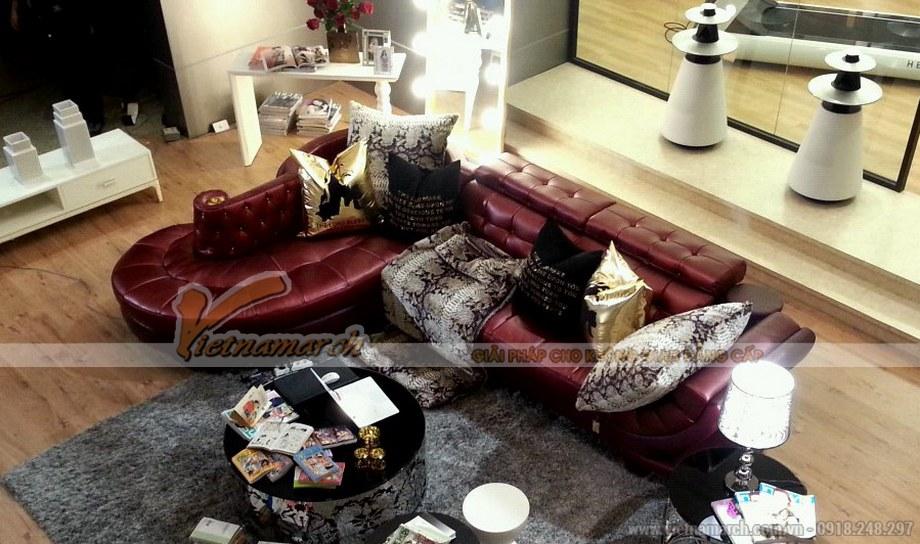 Mẫu ghế Sofa góc da nhập khẩu cao cấp cho phòng khách biệt thự - 01