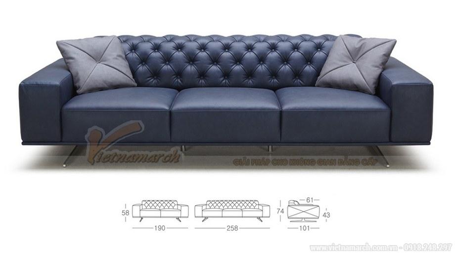 Ghế sofa văng VNSD056 chất liệu da tổng hợp chân liền inox 2016 - 01