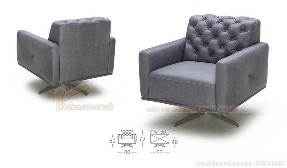 Ghế sofa tựa chất liệu da tổng hợp cao cấp cho 1 người - Mã: SDV-051