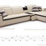 Mẫu ghế Sofa góc chất liệu da công nghiệp cao cấp cho phòng khách – Mã: SDG-101