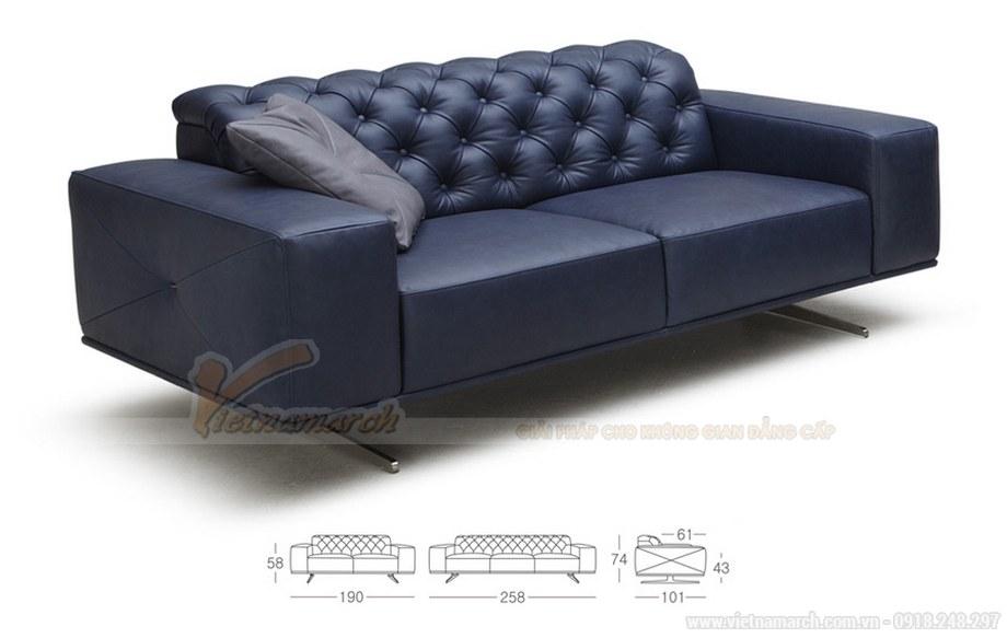 Ghế sofa văng VNSD056 chất liệu da tổng hợp chân liền inox 2016 - 02