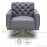 Ghế sofa tựa chất liệu da tổng hợp cao cấp cho 1 người – Mã: SDV-051