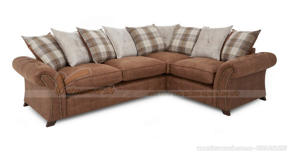 Mẫu ghế sofa góc VNSD060 chất liệu da công nghiệp nhìn như da bò - 02