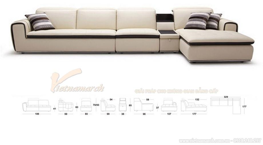 Mẫu ghế Sofa góc SDG-101 chất liệu da công nghiệp cao cấp cho phòng khách - 01