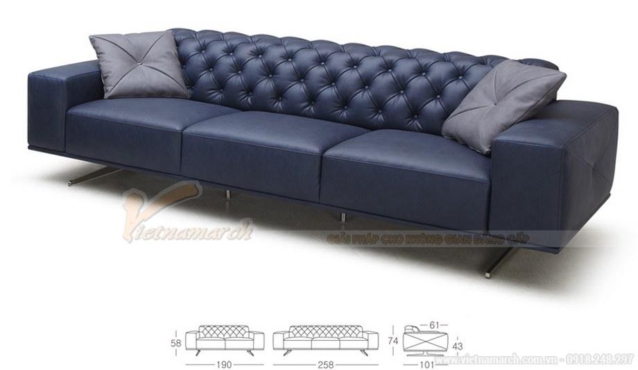 Ghế sofa văng VNSD056 chất liệu da tổng hợp chân liền inox 2016 - 03