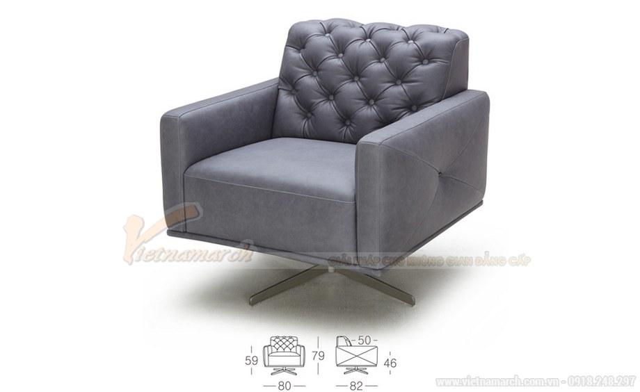 Ghế sofa tựa chất liệu da tổng hợp cao cấp cho 1 người