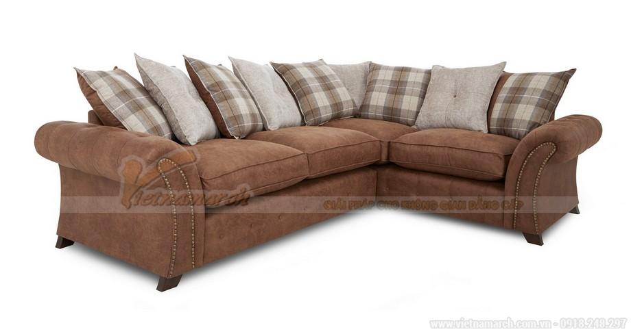 Mẫu ghế sofa góc VNSD060 chất liệu da công nghiệp nhìn như da bò - 03