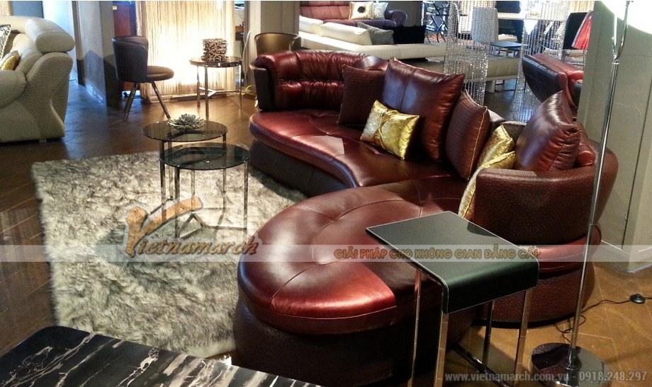 Mẫu ghế Sofa góc da nhập khẩu cao cấp cho phòng khách biệt thự - 04