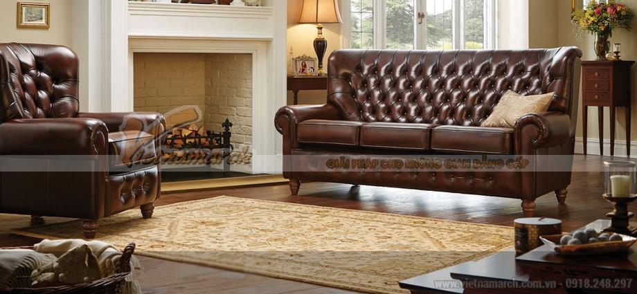 Sofa da cổ điển mang phong cách châu Âu