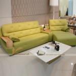 Sofa da tay gỗ thiết kế hiện đại – VASD002