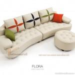 Mẫu ghế sofa Flora kiểu dáng trẻ trung, hiện đại SDF001